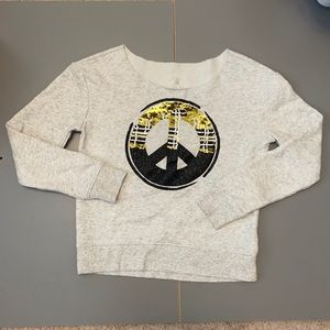 Justice girls sweater size 10 girls. Peace sign